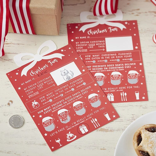 CHRISTMAS SCRATCH CARD GAME