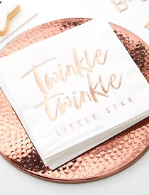 ROSE GOLD TWINKLE TWINKLE BABY SHOWER NAPKINS