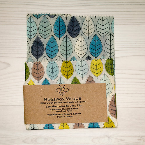 Set of 2 Beeswax Wraps - Leaf