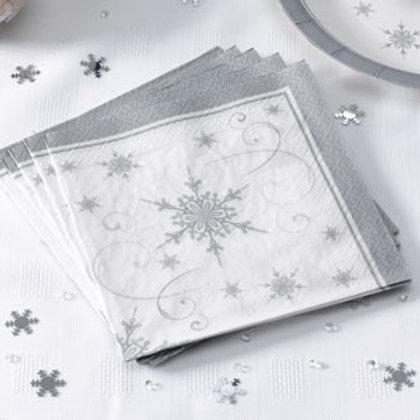 SHIMMERING SNOWFLAKE CHRISTMAS NAPKINS