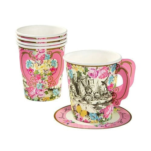TRULY ALICE CUPS AND SAUCERS