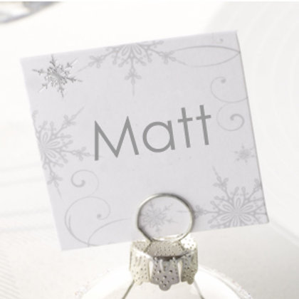 SHIMMERING SNOWFLAKE CARD (for bauble holders)