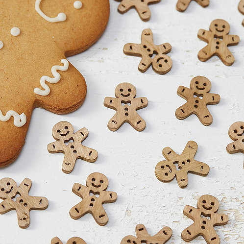 GINGERBREAD MEN WOODEN CONFETTI