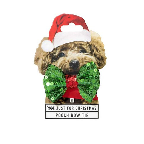 CHRISTMAS POOCH DOG BOW TIE