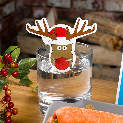 RUDOLPH GLASS DECORATIONS