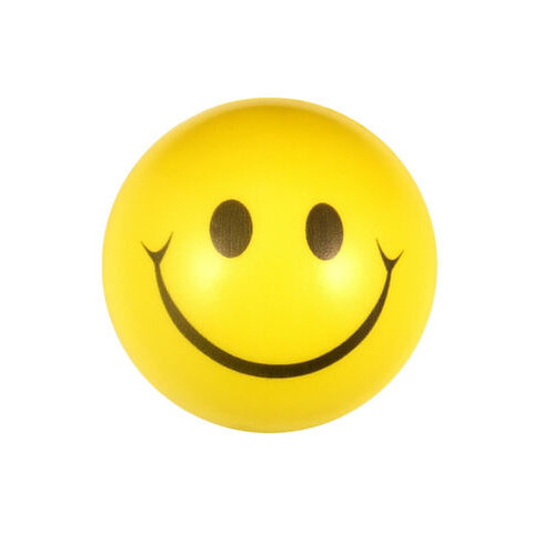 SMILEY FOAM YELLOW BALL