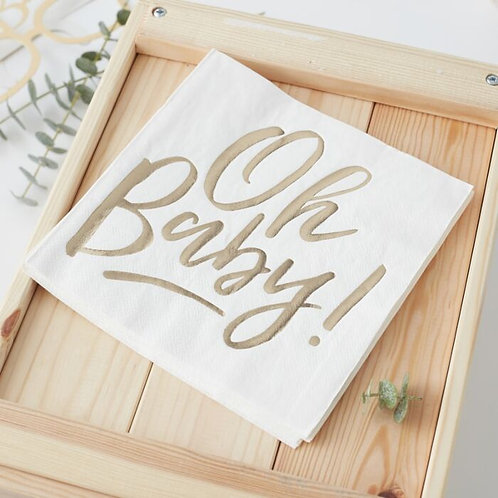 OH BABY! BABY SHOWER NAPKINS