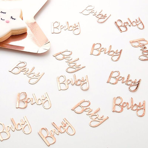 ROSE GOLD BABY SHOWER CONFETTI