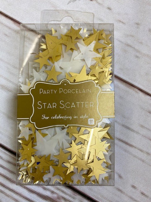 GOLD AND WHITE STAR SCATTER