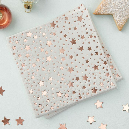 ROSE GOLD FOILED COCKTAIL NAPKIN
