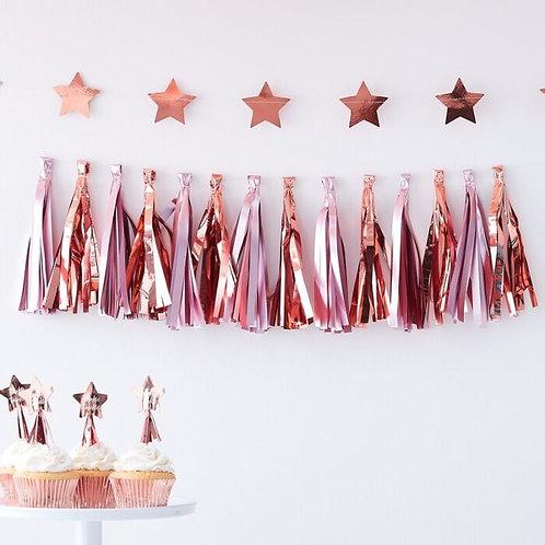 MATTE PINK & ROSE GOLD TASSEL GARLAND