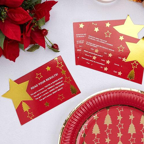 DAZZLING CHRISTMAS SCRATCH TRIVIA CHRISTMAS GAMES