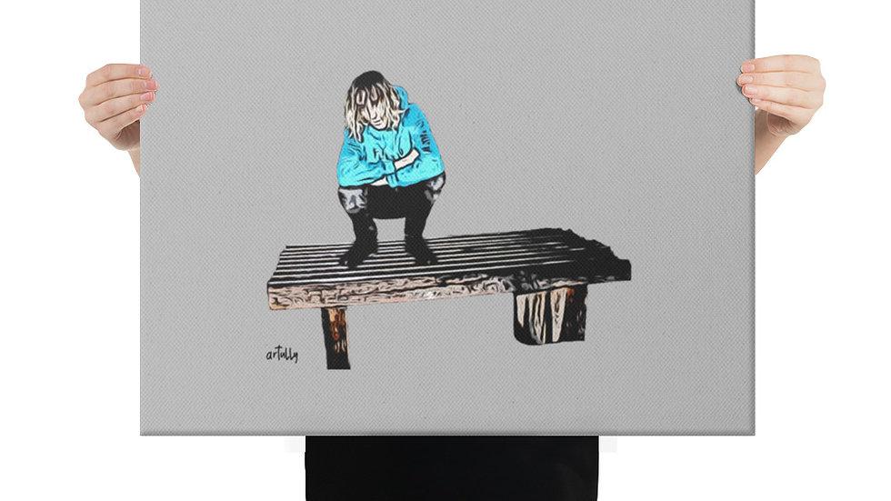 arTully - Lennon Ruminating Canvas 18x24ins