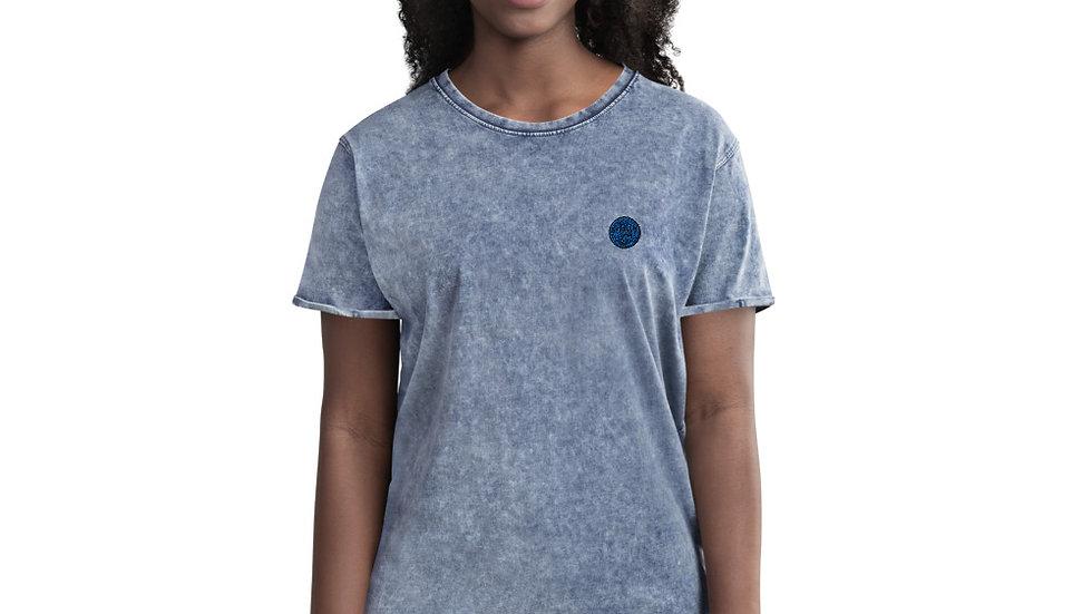 arTully - Woman's Denim Style T-Shirt, Blue