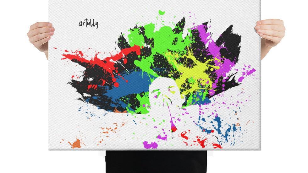 arTully - Splatter Canvas 18x24ins
