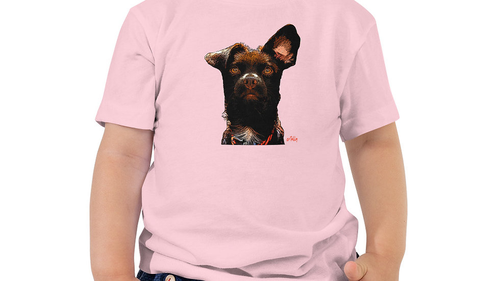arTully - Rio the Rescue Dog - Toddler Girl's Short Sleeve T-Shirt