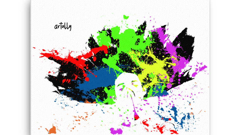 arTully - Splatter Canvas, available in various sizes from