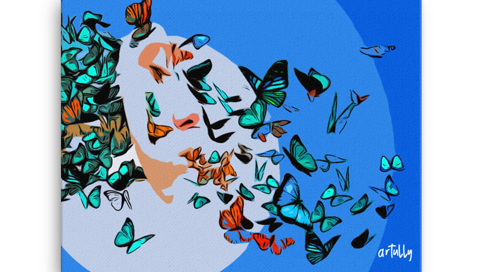 arTully - Lennon Butterflies Canvas, available in various sizes from