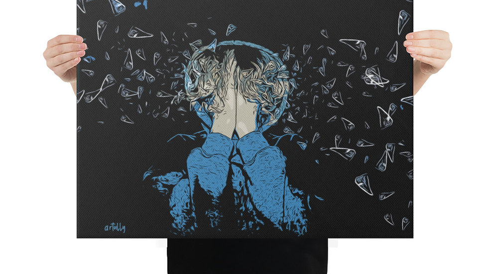 arTully - Lennon Glass Canvas 18x24ins