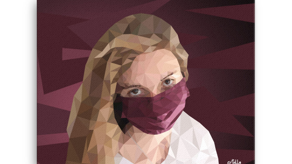 arTully - Evita Polly Style Canvas, available in various sizes from