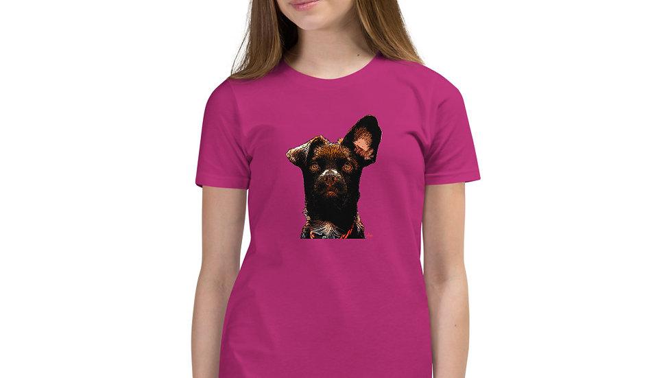 arTully - Rio the Rescue Dog - Girl's Short Sleeve T-Shirt