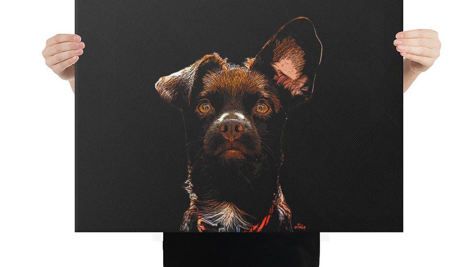 arTully - Rio the Rescue Dog Canvas 18x24ins