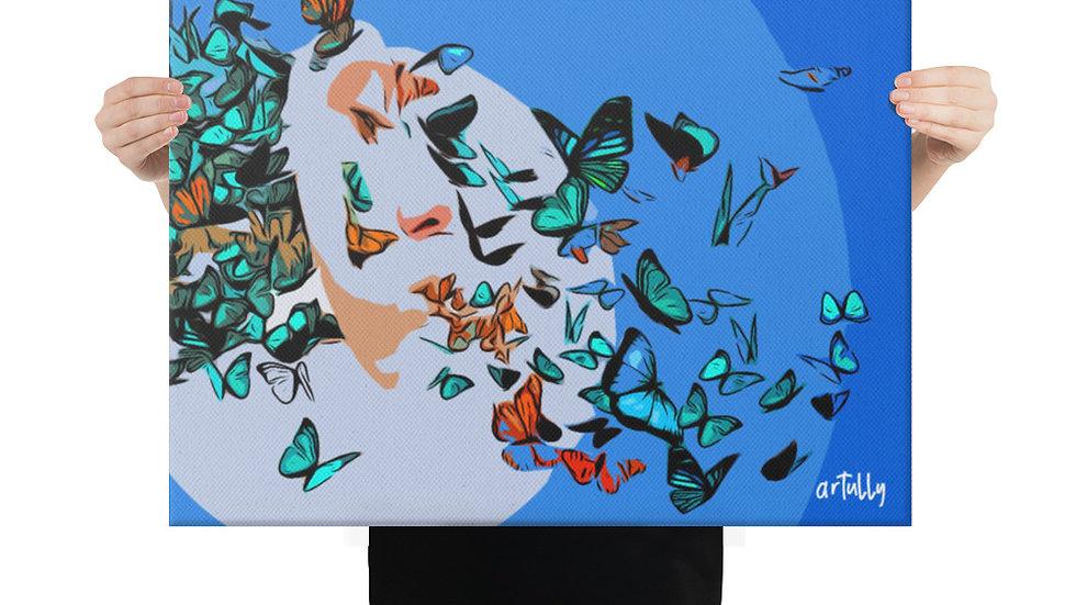 arTully - Lennon Butterflies Canvas 18x24ins