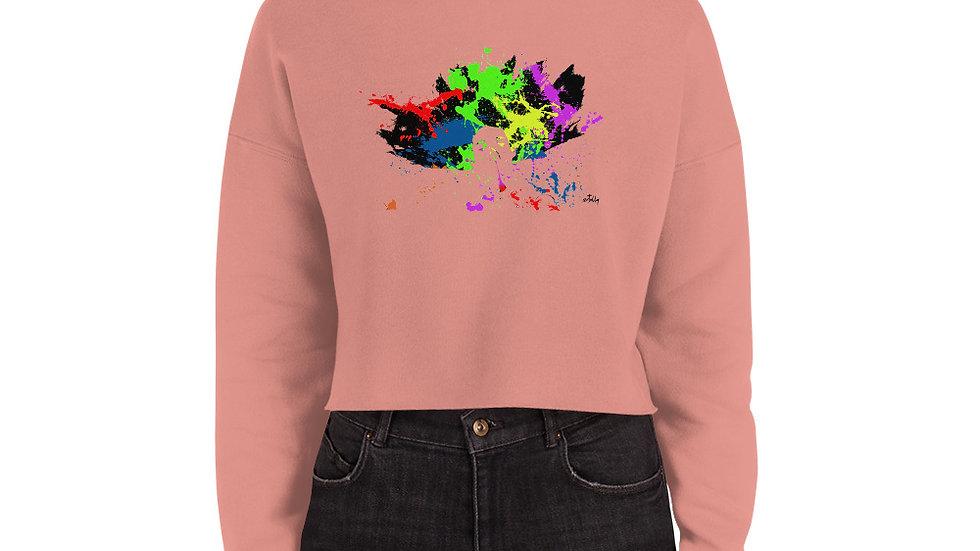 arTully - Splatter Women's Crop Sweatshirt