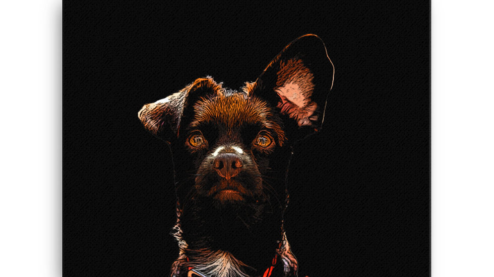 arTully - Rio the Rescue Dog Canvas, available in various sizes from