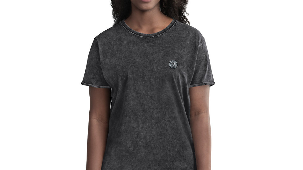 arTully - Woman's Denim Style T-Shirt, Available in Black or Army Green