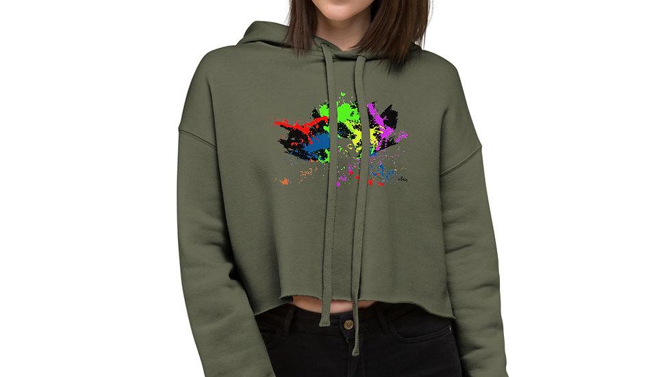artTully - Splatter Women's Crop Hoodie