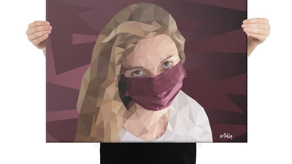 arTully - Evita Polly Style Canvas 18x24ins