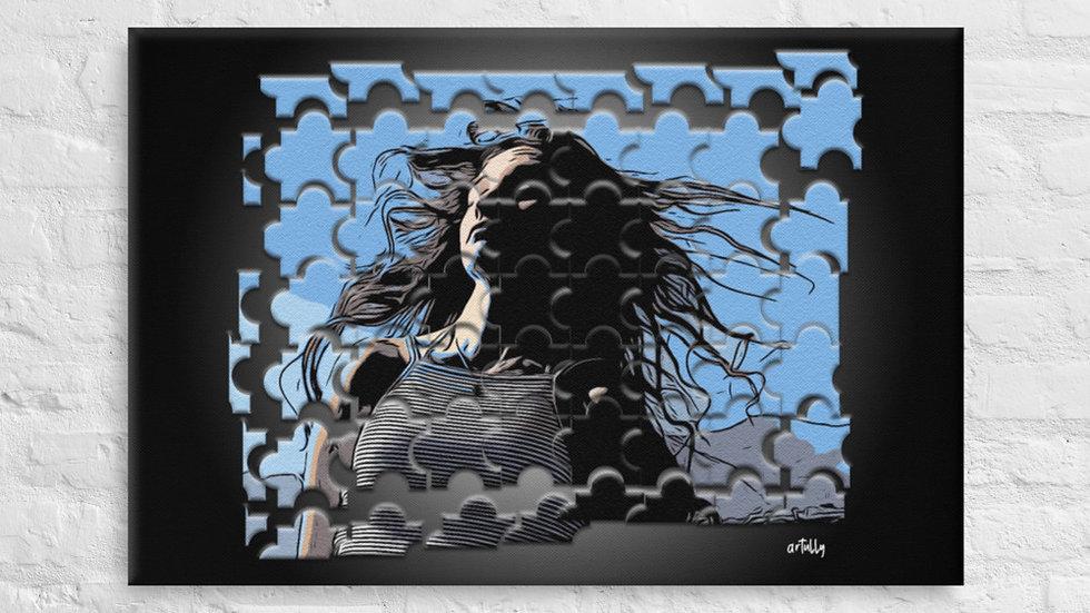 arTully - Evita Puzzle Canvas 24x36ins