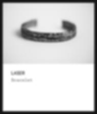 Silver Bracelet / Laser