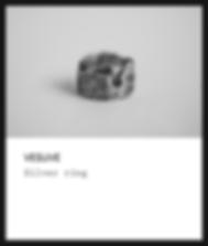 Silver ring / Vesuve