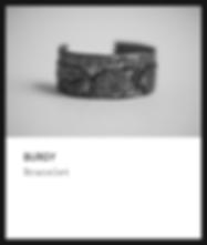 Silver bracelet / burgy