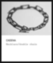 Silver chain / Cadena
