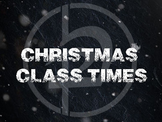 Christmas & New Year Class Times
