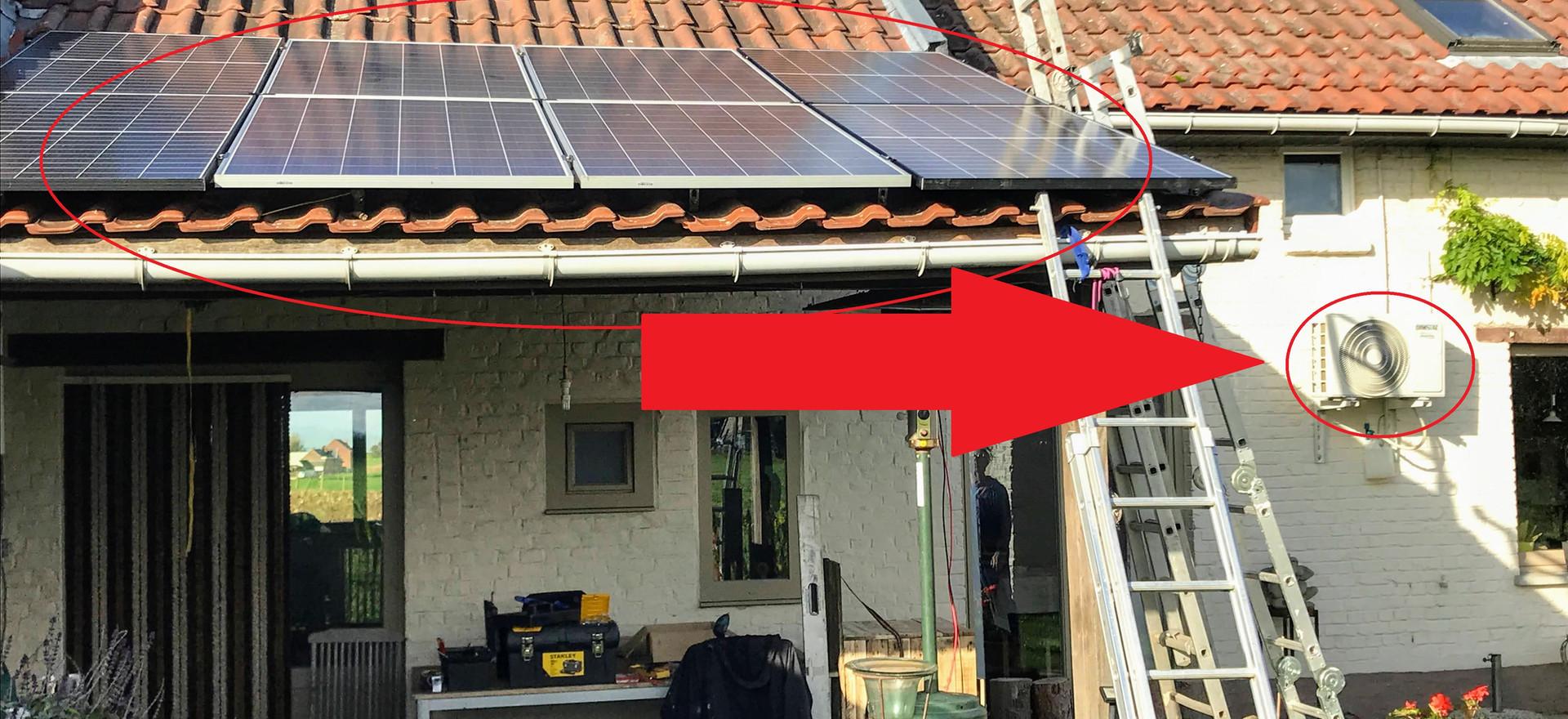Warmtepomp op zonne-energie in Kester