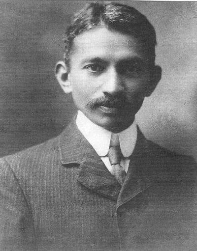 A young Ghandi