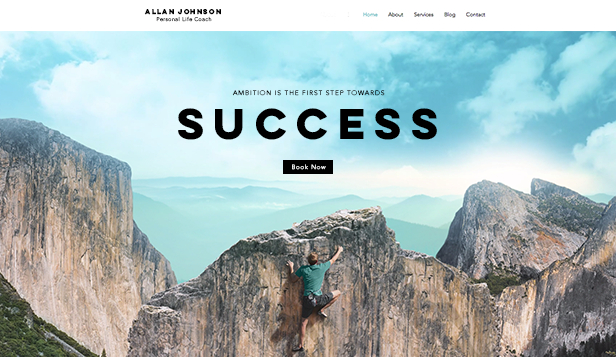 Virksomheter website templates – Success coach