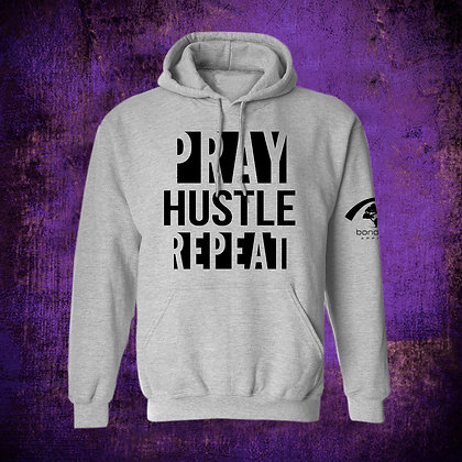 """PRAY HUSTLE REPEAT"" HOODY (G)"