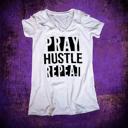 """""""PRAY HUSTLE REPEAT"""" (BLK)"""