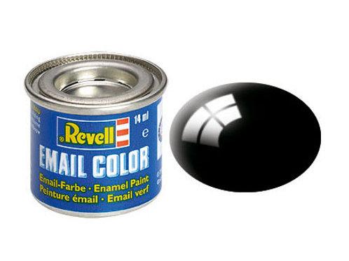 Email Color Schwarz, glänzend, 14ml, RAL 9005