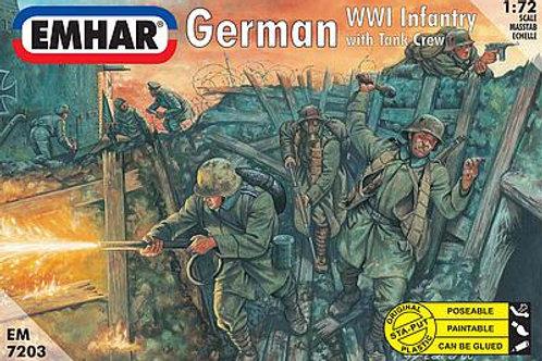 1/72 WWI Deutsche Infanterieund Panzerbesatzung