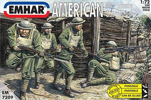 1/72 WWI US-Amerikanische Doughboys Infanterie