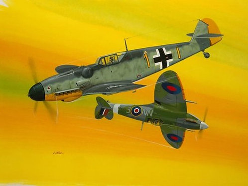 Combat Set Messerschmitt Bf109G-10 & Spitfire Mk.V
