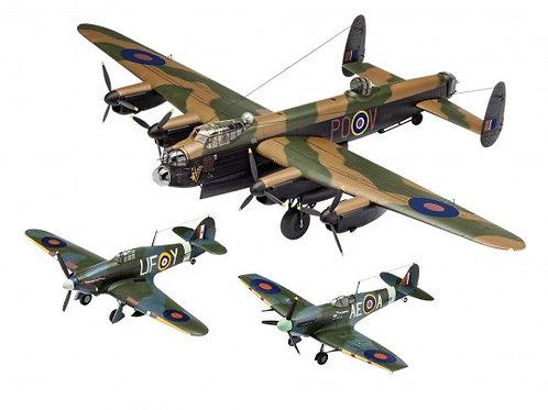 Das Set beinhaltet Modellbausätze zu den bekanntesten britischen Flugzeugen des