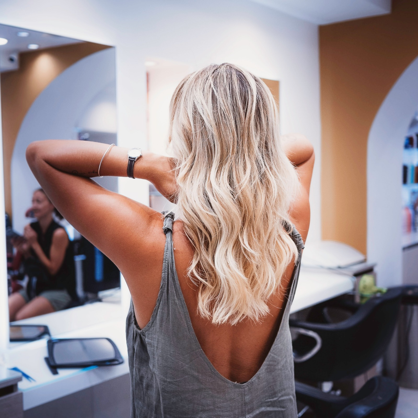 mèches blondes bastia coiffure