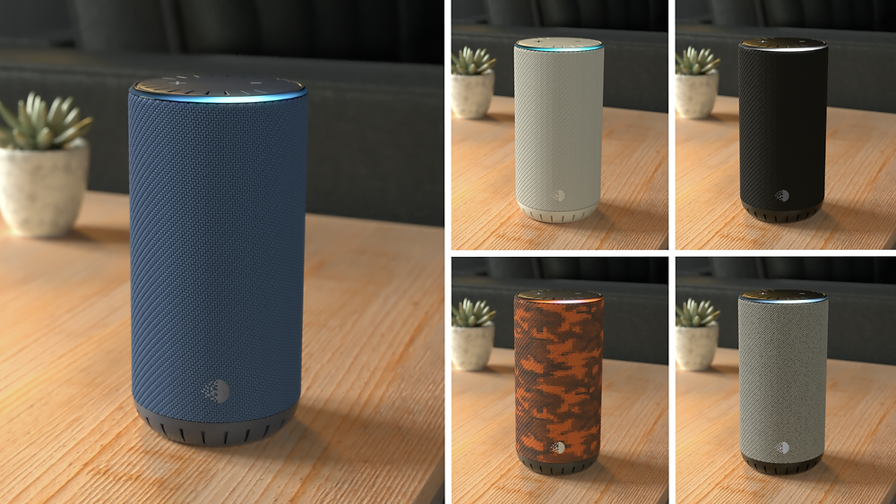 3D render product speaker colors